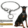 Gold Silver Dog P-Choke/Check Chain Collar Heavy Duty Slip Show Training Pitbull