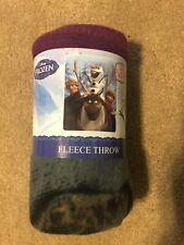 "Disney Frozen 45"" X 60"" Soft & Warm Fleece Throw Lightweight Blanket New"