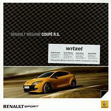 Renault Mégane Coupé + RS Prospekt 11/09 2009 Autoprospekt Broschüre catalogue