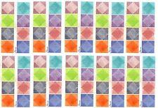 FLAVIA Pastel Alphabet Squares Scrapbook Stickers 10 Sheets