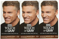 Just FOR MEN TOUCH OF GREY MEDIUM Marrone Grigio T35 Uomo Colore Capelli COLORANTE PERMANENTE