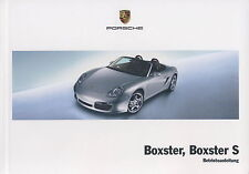Porsche 987 Boxster,boxster s Instrucciones Servicio,MANUAL DE INSTRUCCIONES,MJ.