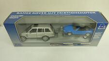 Playbear 1:32 (Welly) Landrover mit Anhänger und Jaguar XK8 in OVP (A1800)