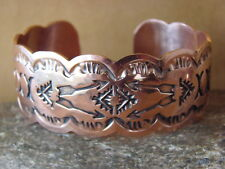 Native American Jewelry Stamped Copper Cuff Bracelet by Albert Cleveland!