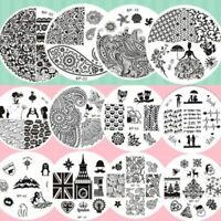 Born Pretty Nail Art Stamping Plates Stainless Steel Image Templates