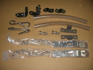 1958-1966 chevy fleetside tailgate Stainless steel chain kit w/new latches