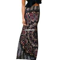 New Fashion Women Bohemia Style Maxi Skirt Package Hip Multi-colors High EA9 03