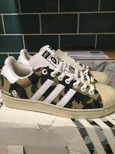 Adidas Originals Bathing Ape Bape Consortium Superstar UK 8 Rare Deadstock Camo