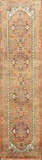 Geometric Indo Heriz Oriental 10 ft Runner Rug Hand-knotted Wool Carpet 3'x10'