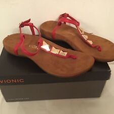 Vionic Orthotic Rest Nala Stud Detail Sandal with FMT Technology - Red-uk 6 or 7