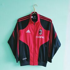 AC Milan Football Training Jacket Adidas 2004 Italy Zip Soccer Sz L Boys