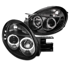 2003-2005 DODGE NEON SE SRT-4 SXT BLACK DUAL HALO LED PROJECTOR DRL HEAD LIGHTS