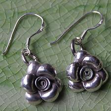 Rose Flower Earring Thai Karen Hill tribe Silver