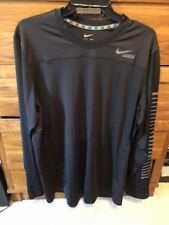 Nike Dry Fir Long Sleeve Black Lacrosse Sz L