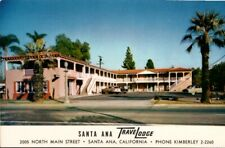Vintage Postcard Santa Ana Travel lodge Motel California