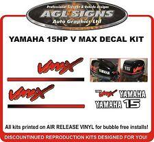 1998 - 2004  YAMAHA 15 HP V MAX Outboard Decal Kit  reproductions  9.9 hp also
