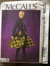 McCall's Sewing Pattern 7025 Women's Size 6 8 10 12 14 Dress Uncut