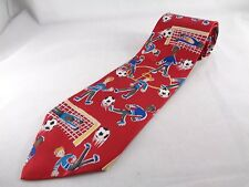 "Save the Children Charity Silk Mens Necktie Red Soccer Game Tie 56"" L 4"" Wide"