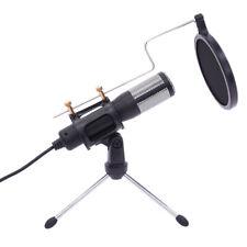 USB Desktop Microphone Tripod Stand Set for Game Chat Studio + USB Micrphone