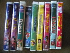 Lot of 9 DISNEY VHS movies Aladdin Black Diamond Fox and the Hound Spanish +