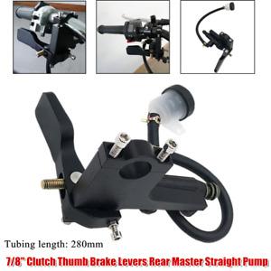 "7/8"" Motorcycle Hydraulic Brake Pump Clutch Thumb Brake Levers Cylinder Handle"