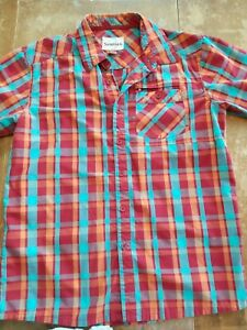 Simms Button front shirt large EUC Fish Hike Casual Work