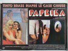 PAPRIKA erotico Tinto Brass DEBORA CAPRIOGLIO STEPHANE FERRARA fotobusta 1991