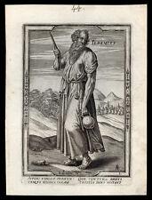santino incisione 1600 S.GEREMIA profeta