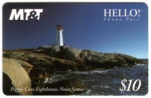 $10. Lighthouse On Peggy's Cove, Nova Scotia USED Phone Card