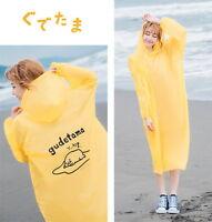 Sanrio Gudetama Egg Convenient Lightweight Raincoat Adult Size 85x125cm #656833