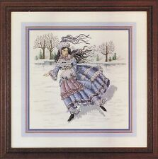 Hiver fille Lady Counted cross stitch chart Pattern