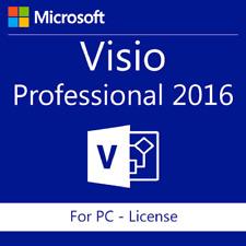 MS Microsoft VISIO 2016 PRO 32/64 Bit Professional Product Key Full Version