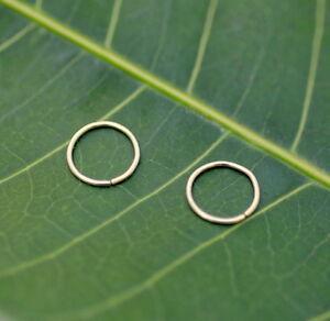 Nose Rings - Nose Piercings - Tragus Piercings -ONE PAIR 14K Gold Filled 24g 7mm