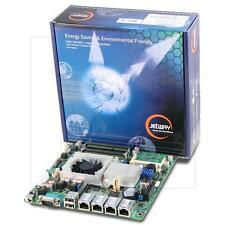Jetway NF9HQL-525 Atom D525 Quad-LAN Thin Mini-ITX Motherboard, DC Power Onboard