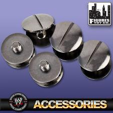 Set Of 5 Black Replica Belt Screws for all WWE Wrestling Belts