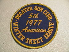 DECATUR ILLINOIS GUN CLUB 5TH 1977 AMERICAN TRAP SHOOTING CLAY PIG. SKEET PATCH