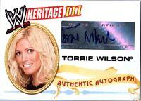 WWE Torrie Wilson 2007 Topps Heritage III Authentic Autograph Card