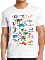 Dinosaurs T Shirt Names And Pictures Kids Gift Novelty Cool Vintage Tee 80