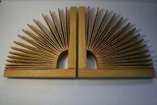 Seth Rolland Abanico Art Book Ends Handmade Ash Sustainable Wood Sculpture Decor