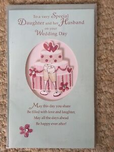 Pretty Daughter And Her Husband On Your Wedding Day Card. Code 50