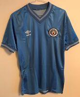 Rare Manchester City football shirt size S/M  blue colour  Umbro 1983-1985