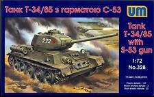 UM-MT Models 1/72 Soviet T-34/85 TANK with S-53 GUN