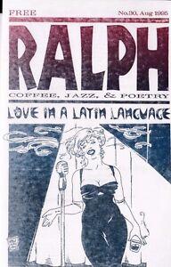 """RALPH: COFFEE, JAZZ, & POETRY"" NUMBER 30 AUGUST 1995 BEAT POETRY ZINE"