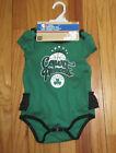 Boston Celtics NBA Baby Girl Court Princess 3 Pc Bodysuit Bib &Booties 18M NWT