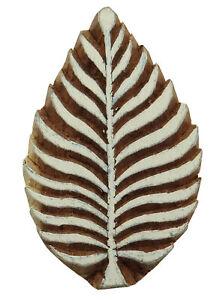 Wooden Stamps Decorative Textile Printing Blocks Leaf Pattern Hand Carved