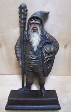 Antique Bradley & Hubbard Cast Iron Warrior Gnome Elf Man Krampus Doorstop B&H