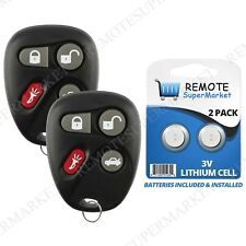 Replacement for Pontiac 2001-2002 Grand Am 2000-2005 Sunfire Remote Key Fob Pair