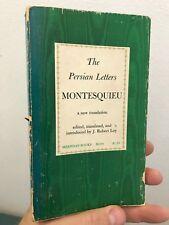 The Persian Letters Montesquieu Robery Loy 1961 Meridan Press Paperback