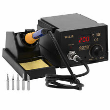 Genuine WEP 60W Soldering Iron Station Weld 6 Tips Stand Kit Digital Display