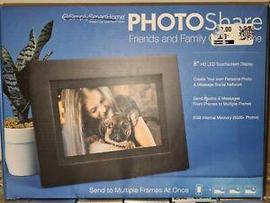 "Genuine Simply Smart  Home PhotoShare 8"" Smart Photo Frame Touchscreen SEALED"